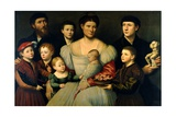 Portrait of Arrigo Licinio and His Family Giclee Print by Bernardino Licinio