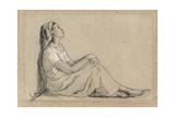 Young Negro Woman Sitting, 1855-7 Reproduction procédé giclée par Camille Pissarro