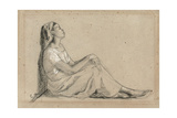 Young Negro Woman Sitting, 1855-7 Giclee Print by Camille Pissarro