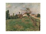 The Village of Eragny, 19th Century Reproduction procédé giclée par Camille Pissarro