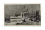 American Aid for the Wounded, the Hospital Ship Maine Lying Off Gravesend Giclee Print by Charles Edward Dixon