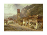 Unterseen, Interlaken: Autumn in Switzerland, 1878 Giclee Print by Benjamin Williams Leader