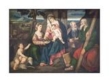 Holy Family with Saints Giclée-Druck von Bonifacio Veronese
