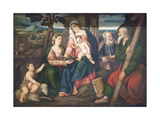 Holy Family with Saints Giclee Print by Bonifacio Veronese