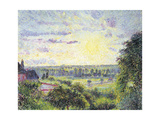 Sunset at Eragny, 1891 Giclee Print by Camille Pissarro