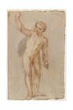 Standing Male Nude Giclee Print by Benedetto Luti