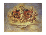 Part of an Altar Piece Depicting God the Father with Three Angels, C.1500 Giclee Print by Bernardino Fungai