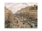 Boulevard Montmartre, Afternoon Sun, 1897 Giclee Print by Camille Pissarro