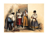 Women of Puebla, after 1836 Giclee Print by Carlos Nebel