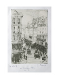 Rue Saint-Lazare, Paris, 1897 Reproduction procédé giclée par Camille Pissarro