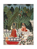 Krishna Uses a Ruse to Meet His Beloved, 1781 Lámina giclée por  Bhoya