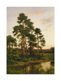 A Quiet Evening, Surrey Pines, 1916 Giclee Print by Benjamin Williams Leader