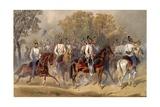 Austrian Dragoons, C.1853 Giclee Print by Carl Goebel
