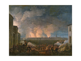 The Bombardment of Vienna by the French Army, 11th May 1809 Giclee Print by Baron Louis Albert Bacler D'albe