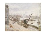 Quayside at Le Havre, 1903 Reproduction procédé giclée par Camille Pissarro