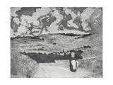 La Femme Sur La Route, 1879 Reproduction procédé giclée par Camille Pissarro