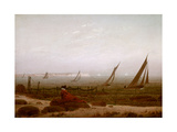 Woman on the Beach at Rugen, 1818 Giclee Print by Caspar David Friedrich
