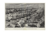 The Great Coronation Naval Display, Bird'S-Eye View of the Fleet Assembled at Spithead Giclee Print by Charles Edward Dixon