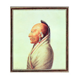 Indian Chief of the Little Osages, C.1807 Giclee Print by Charles Balthazar Julien Fevret De Saint-memin