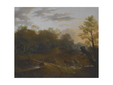 Pony Cart Crossing a Woodland Brook, C.1815 Giclee Print by Benjamin Barker