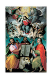 The Coronation of the Virgin with Saints Luke, Dominic, and John the Evangelist, C.1580 Giclee Print by Bartolomeo Passarotti