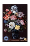 Floral Still Life with Shells, 1622 Giclee Print by Balthasar van der Ast