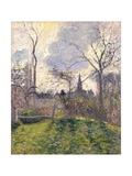 The Bell Tower of Bazincourt, 1885 Reproduction procédé giclée par Camille Pissarro