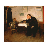 Orphaned, 1897 Giclee Print by Baron Mikhail Petrovich Klodt von Jurgensburg