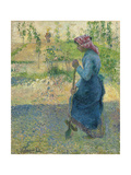 Peasant Digging; Paysanne Bechant, 1882 Giclee Print by Camille Pissarro
