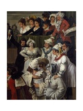 Pulcinella with Other Carnival Character, Detail, 1821 Giclee Print by Bartolomeo Pinelli