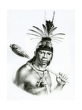 Chief Camacan Mongoyo from 'A Pitoresque and Historical Trip to Brazil' by Jean Baptist Debret Giclee Print by Charles Etienne Pierre Motte