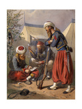 Zouaves Playing Cards at Vincennes, C.1870 Giclee Print by Carl Goebel
