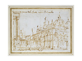 Venice: St Mark's and the Loggetta Giclee Print by  Canaletto