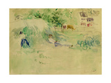 Les Foins a Bougival Giclee Print by Berthe Morisot