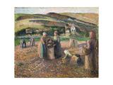 Picking Potatoes, 1893 Reproduction procédé giclée par Camille Pissarro