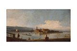 View of the Isles of San Michele, San Cristoforo and Murano, from the Fondamenta Nuove, C.1725-28 Giclee Print by  Canaletto