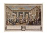 Le Bal Pare a Monsieur De Villemorien Fila, Engraved by L. Provost Giclee Print by Augustin De Saint-aubin
