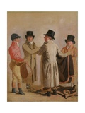 Frank Buckle, John Wastel, Robert Robson and a Stable Lad Giclee Print by Benjamin Marshall