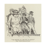 He Fretted All the Way to Stroud, Hood's Humorous Poems Giclee Print by Charles Edmund Brock