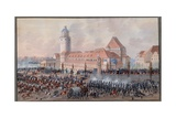 View of Peters Thor in Leipzig, 19th October 1813 Giclee Print by Balthasar Wigand