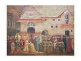 Consecration of the New Church of St. Egidio by Pope Martin V, September 1420, 1430S Giclee Print by Bicci di Lorenzo
