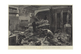 In the Commander's Cabin of HMS Alexandra Giclee Print by Charles Auguste Loye