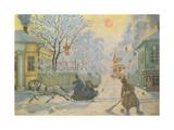Frosty Morning Giclee Print by Boris Mihajlovic Kustodiev