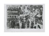 Place Du Havre, À Paris, C. 1897 Reproduction procédé giclée par Camille Pissarro