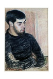 Portrait of Lucien Pissarro (1863-1944), 1883 (Pastel) Reproduction procédé giclée par Camille Pissarro