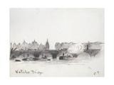 Study of Waterloo Bridge Reproduction procédé giclée par Camille Pissarro