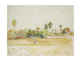 Study of the Orchard at Eragny-Sur-Epte, Seen from the Artist's House, C. 1886 - 1890 Giclee Print by Camille Pissarro