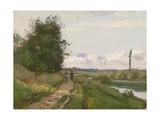 The Banks of the Seine at Bougival, 1864 Reproduction procédé giclée par Camille Pissarro
