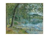 Banks of the Oise at Auvers-Sur Oise; Bords De L'Oise a Auvers-Sur-Oise, 1878 Giclee Print by Camille Pissarro