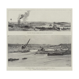 The Great Nile Dam Giclee Print by Charles Auguste Loye